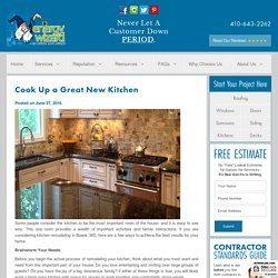 Cook Up a Great New Kitchen