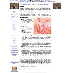 Sadza - The Congo Cookbook (African recipes) www.congocookbook.com -