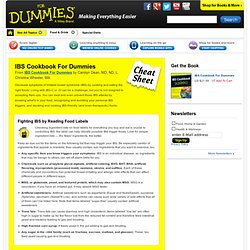 IBS Cookbook For Dummies Cheat Sheet