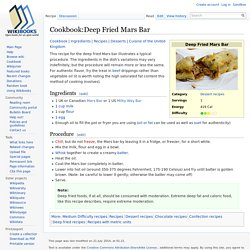 Cookbook:Deep Fried Mars Bar - Wikibooks, open books for an open world