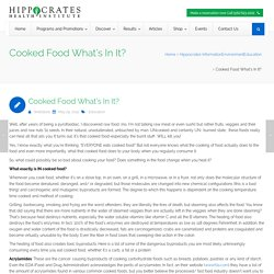Cooked Food What's In It? - Hippocrates Health Institute