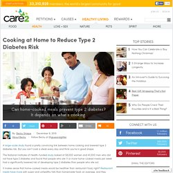 Can home-cooked meals prevent type 2 diabetes?