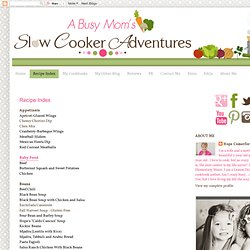 A Busy Mom's Slow Cooker Adventures: Recipe Index