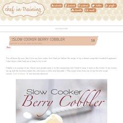 Slow Cooker Berry Cobbler
