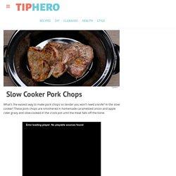 Slow Cooker Pork Chops Recipe & Video