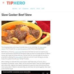 Slow Cooker Beef Stew Recipe & Video