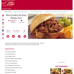 Slow-Cooker So-Easy Sloppy Joes recipe from Betty Crocker