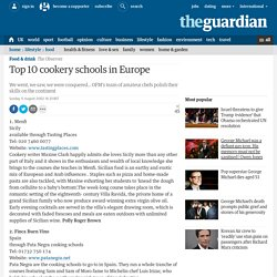Top 10 cookery schools in Europe