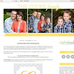 The Cookes: Cookefam Free Printables