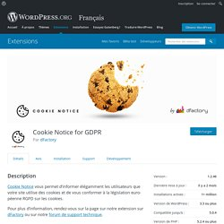 Cookie Notice for GDPR – Extension WordPress