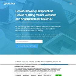 Cookie-Hinweis & die DSGVO
