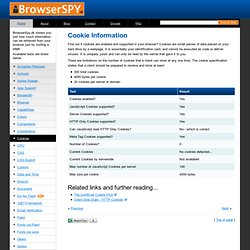 Cookie Information - BrowserSpy.dk