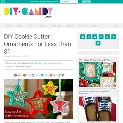 DIY Cookie Cutter Ornaments For Less Than $1 - diycandy.com