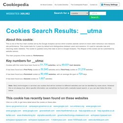 __utma cookie name search results