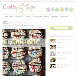 Ice Cream Sundae Cookies