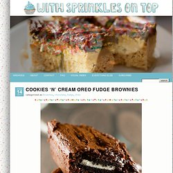 Cookies 'n' Cream Oreo Fudge Brownies