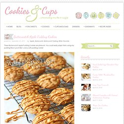 Cookies and Cups Butterscotch Apple Pudding Cookies