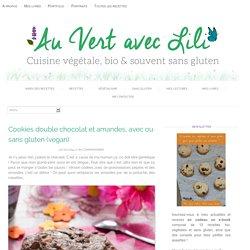 Cookies double chocolat et amandes, avec ou sans gluten