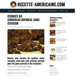 Cookies au chocolat/oatmeal sans cuisson