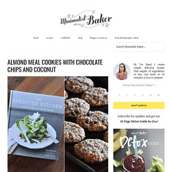 Almond Meal Cookies with Coconut and Chocolate Chips Recipe :: Minimalist Baker
