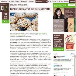 Cookies aux noix et aux dattes