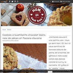Cookies croustillants chocolat blanc, noix de pécan et flocons d'avoine