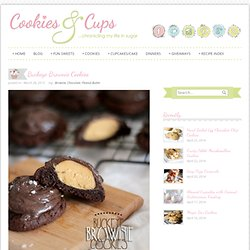 Cookies and Cups Buckeye Brownie Cookies
