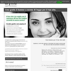Widget Cookies Policy - Crea il tuo Banner con informativa breve per siti web gratis - A norma con la nuova normativa sulla privacy!