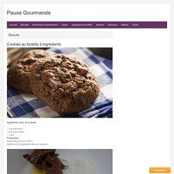 Cookies au Nutella 3 ingrédients