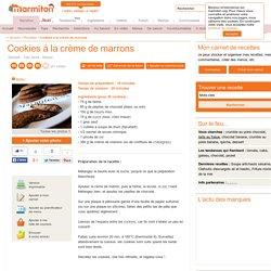 Cookies à la crème de marrons : Recette de Cookies à la crème de marrons - Marmiton
