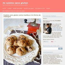 Cookies sans gluten extra moelleux à la farine de châtaigne