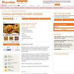 Cookies parmesan tomates séchées : Recette de Cookies parmesan tomates séchées