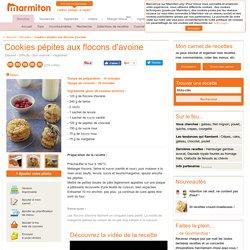 Cookies pépites aux flocons d'avoine : Recette de Cookies pépites aux flocons d'avoine