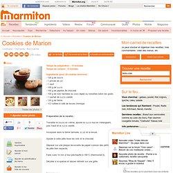 Cookies de Marion : Recette de Cookies de Marion