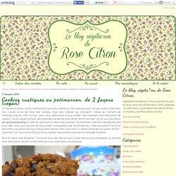 Cookies rustiques au potimarron, de 2 façons (vegan)