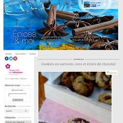 Cookies au sarrasin, coco et éclats de chocolat