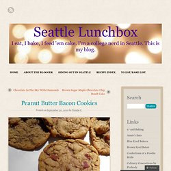Peanut Butter Bacon Cookies « Seattle Lunchbox