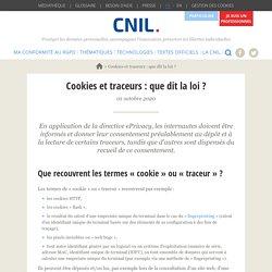 Cookies et traceurs : que dit la loi