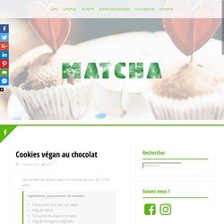 Cookies végan au chocolat – Blog Matcha