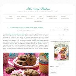 Cookies végétaliens, la recette de base