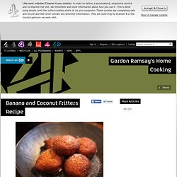 Banana and coconut fritters recipe