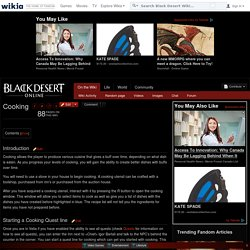 Cooking - Black Desert Wiki - Wikia