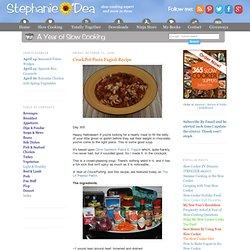CrockPot Pasta Fagioli Recipe