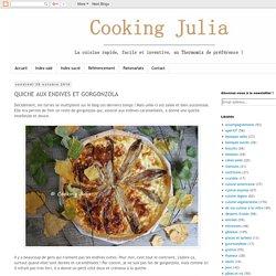 COOKING JULIA : QUICHE AUX ENDIVES ET GORGONZOLA