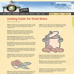 Cooking Guide for Dried Beans
