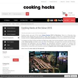 Cooking Hacks at the Sónar 2015 / Cooking Hacks Blog