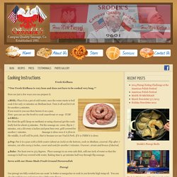 Cooking Instructions — Srodek Deli