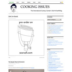 Cooking Issues — The French Culinary Institute's Tech'N Stuff Bl