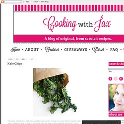 Cooking with Jax: Kale Chips
