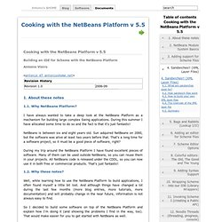 Cooking with the NetBeans Platform v 5.5